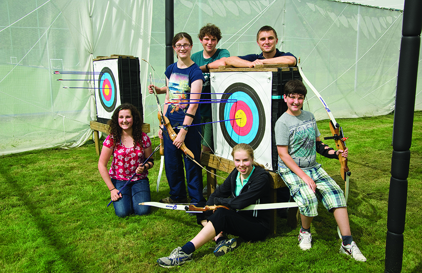 Target archery is great fun at our outdoor range.