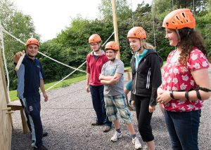 Try the Low Ropes at our activity centre