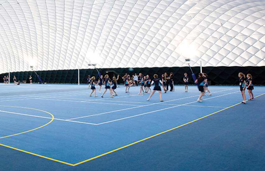 Indoor tennis and netball in the area