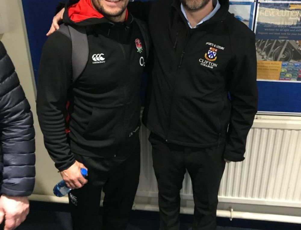 Sports Centre staff meet England stars!