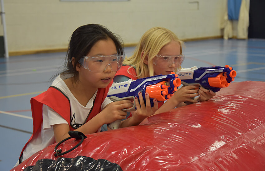 Nerf Combat at Clifton College activity centre